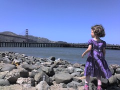 'Rock climbing' at Crissy Field