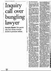 Scotsman 11 October 1996 Iinquiry call over bungling lawyer