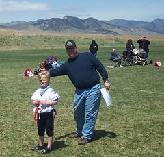 Zane at Flag near Golden, CO