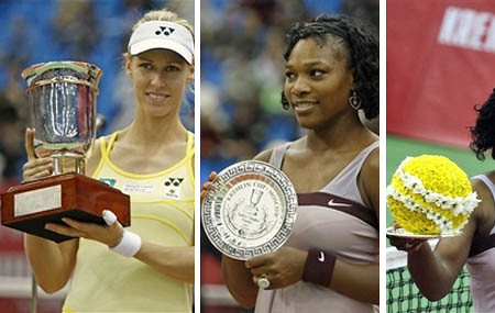 elena dementieva and serena williams - kremlin cup