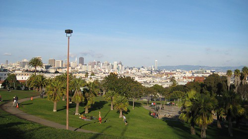 view from Dolores Park