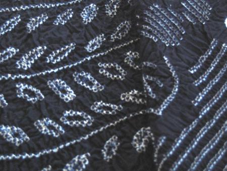indigo shibori cloth