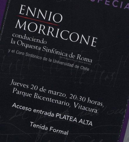 Ennio Morricone en Chile