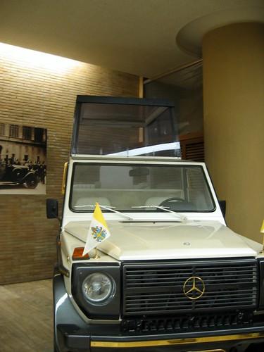 Popemobile at the Vatican Museum.