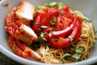 chile-garlic egg noodles