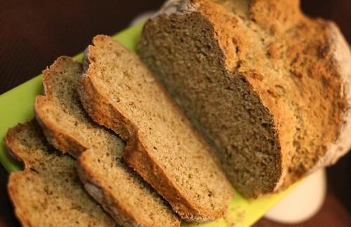 Sliced Sage Soda Bread