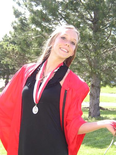 Ellen -- the graduate!