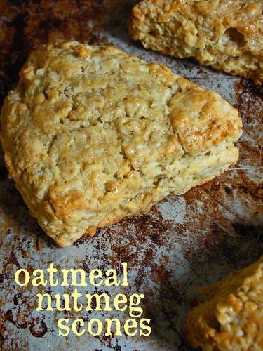 oatmeal nutmeg scones