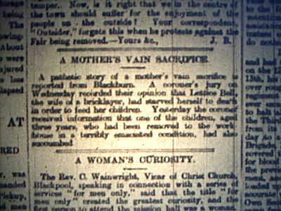 newspaper article from 1898 spotted today in the library. apologies for the quality - it was displayed on a microfiche.