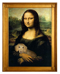 Mona Lisa with her dog