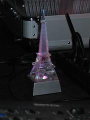 Mini-Eiffelturm in Pink