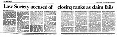 Scotsman 5 June 1998 Law Society accused of closing ranks as claim fails