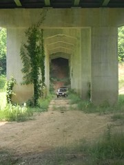 Dave drives UNDER the Highway 39 bridge