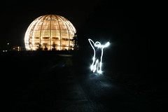 CERN Globe Light Man