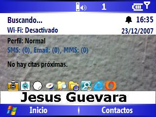 Escritorio Windows Mobile 5 HTC Excalibur S620