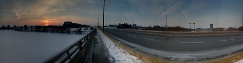 Ottawa River and Bronson - Panorama