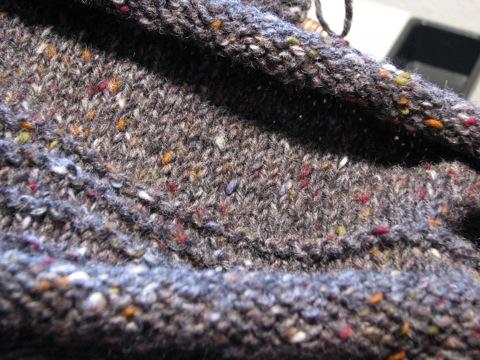 Grey Tweed Pullover back 012708
