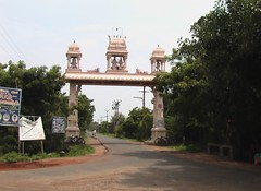 Temple arch at the main road