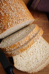 Old-Fashioned Sesame-Wheat Bread by ^-^liz on flickr