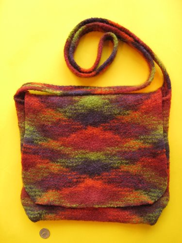 Plaid Felted Bag