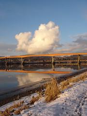 fraser river in winter