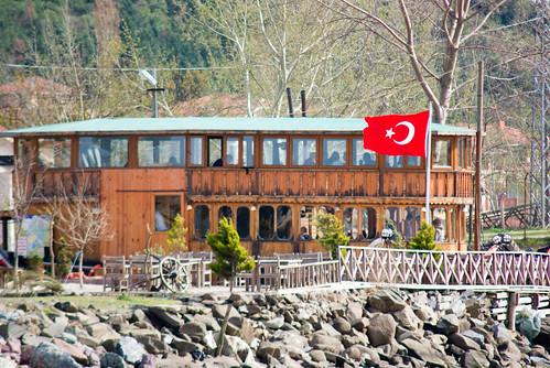 a pretty fish restaurant in Riva. Cool place to drink rakı ...