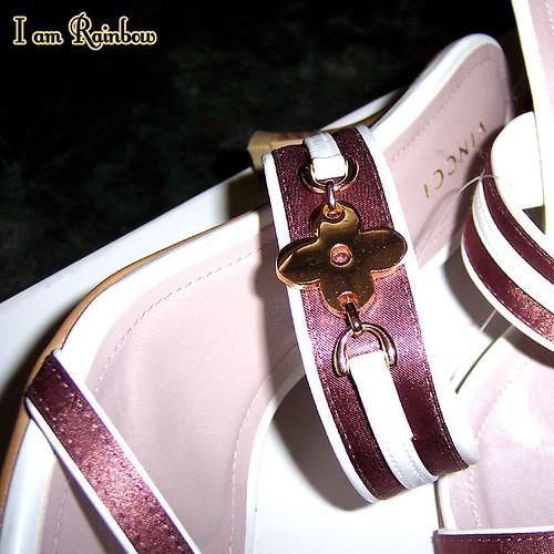 Vincci pink flower shoes