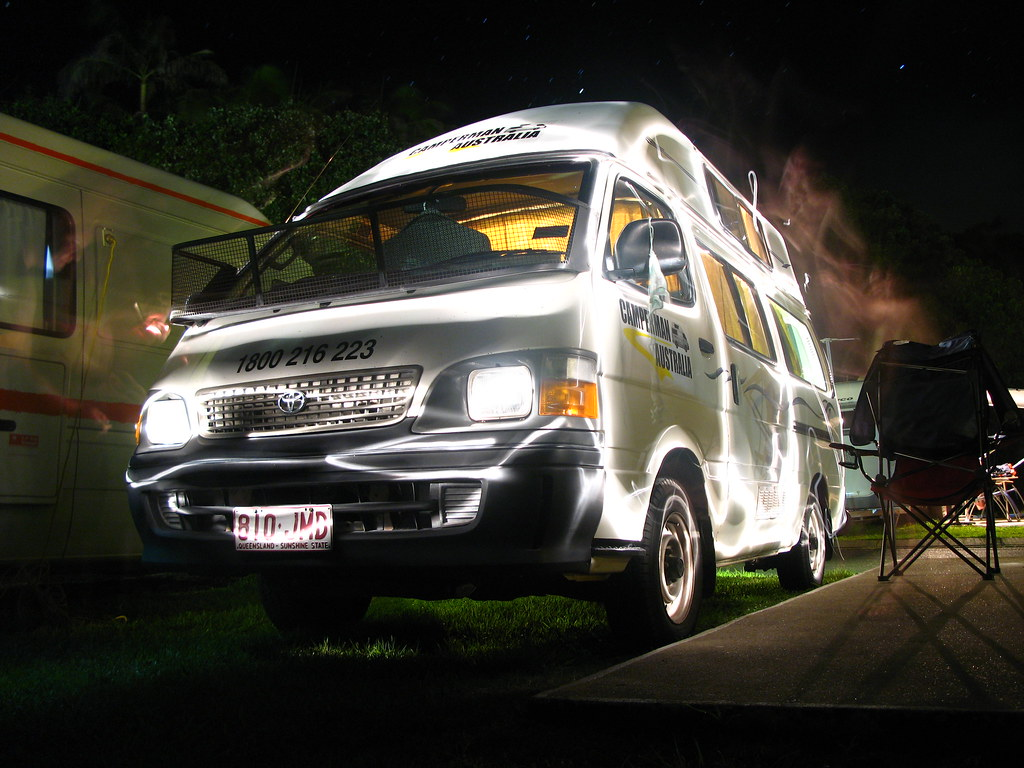 Light Painted Campervan