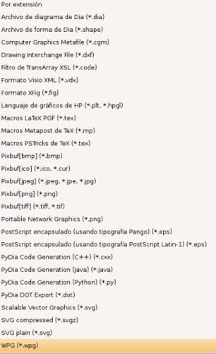 Extensiones DIA