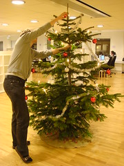 Martin decorating the christmas tree