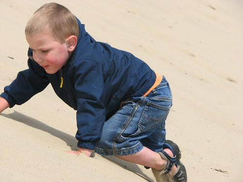 Jacob climbing the Dune