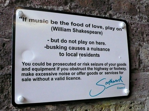 Music be the food of love Southwark