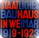 Cubierta del primer libro de la Bauhaus, Staalt. Bauhaus in Weimar. 1923.