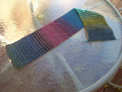 10-07 Noro Striped Scarf Progress