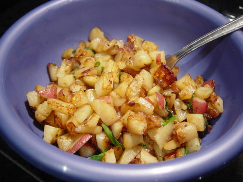 homefries with spinach