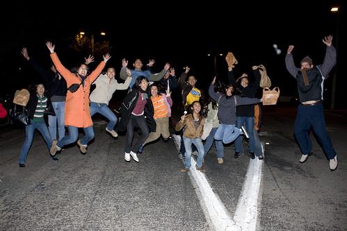 The Santos Family Jump! (I'm in the orange coat)