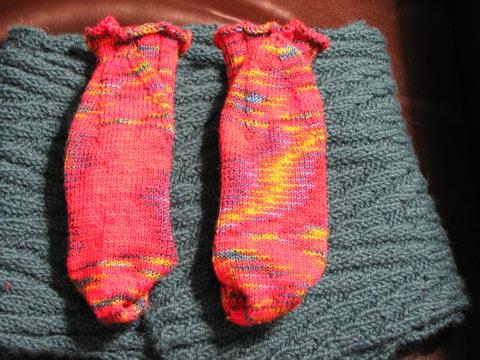 Soles of Chili Pepper Socks