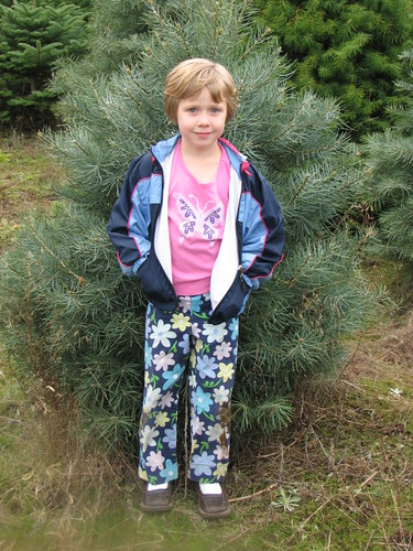 Emily found a tree she likes - just her size