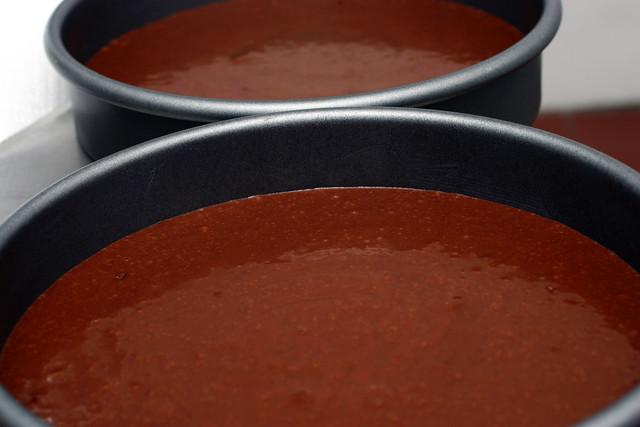 chocolate cake puddles