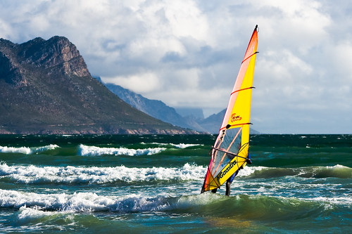 Windsurfer Off Strand Beach