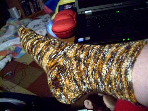 one sock done