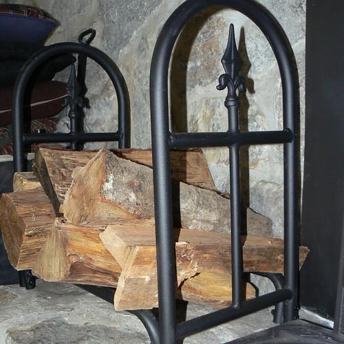 Wood holder in living room