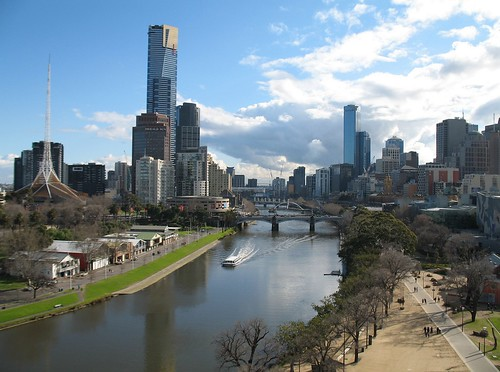 Beautiful Melbourne Skyline & Yarra River
