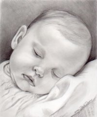 Sleeping Baby Portrait #DarlaDixon