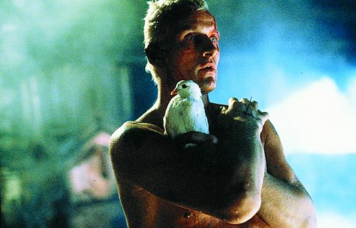 Rutger Hauer as replicant Roy Batty