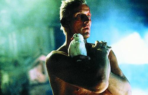 Rutger Hauer as replicant Roy Batty