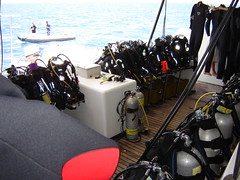 Diving equipment on board of the Emperor Infinity