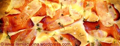 Kartoffelflammkuchen gebacken