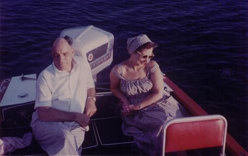 Manolis nad Pitsa aboard DELFINI ca. late 1950s