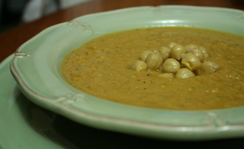 Lemony Chickpea Lentil Soup